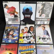 Videojuegos y Consolas: LOTE 9 JUEGOS PC DVD VARIADOS (1). Lote 194270150