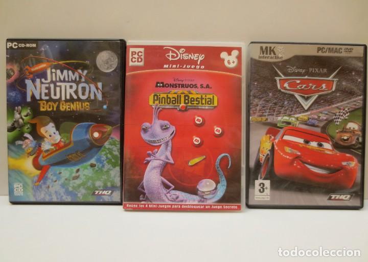 LOTE 3 JUEGOS PC - JIMMY NEUTRO - MONSTRUOS , S.A PINBALL BESTIAL - CARS (Juguetes - Videojuegos y Consolas - PC)