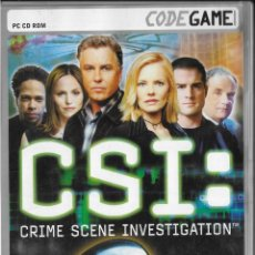 Videojuegos y Consolas: *D466 - JUEGO PC - CSI - CRIME SCENE INVESTIGATION. Lote 194366156