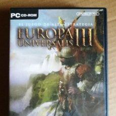 Videojuegos y Consolas: EUROPA UNIVERSALIS III. Lote 194397542
