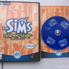 Videojuegos y Consolas: LOS SIMS 1 SUPERSTAR SUPER STAR DISCO DE EXPANSION SIM PC DVD ROM EA KREATEN. Lote 194568641