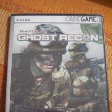 Videojuegos y Consolas: GHOST RECON, TOM CLANCY'S. CODEGAME. JUEGO PARA PC DVD ROM. NUEVO, PRECINTADO.. Lote 194579963