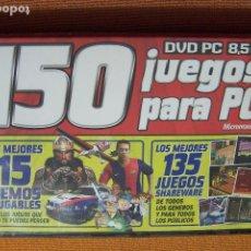 Videojuegos y Consolas: 150 JUEGOS PARA PC. MICROMANÍA DVD PC.. Lote 194609070