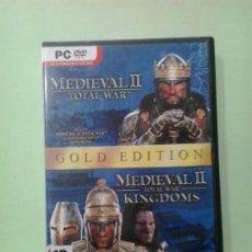 Videojuegos y Consolas: LMV - MEDIEVAL II, TOTAL WAR / MEDIEVAL II, TOTAL WAR KINGDOMS -- JUEGO PC, DVD-ROM. Lote 194710773