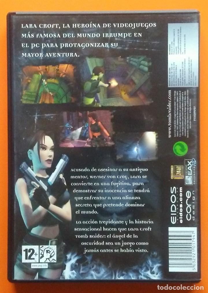 Videojuegos y Consolas: TOMB RAIDER EL ANGEL DE LA OSCURIDAD PC-CD-ROM EDICION 2 DISCOS 2003 - Foto 2 - 194749976