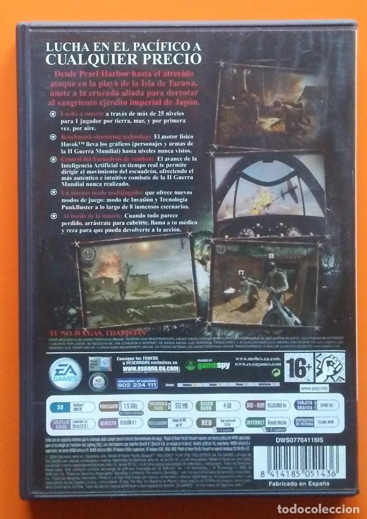 Videojuegos y Consolas: MEDAL OF HONOR PACIFIC ASSAULT PC-DVD-ROM 2004 - Foto 2 - 194750127