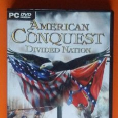 Videojuegos y Consolas: AMERICAN CONQUEST DIVIDED NATION PC-DVD-ROM 2005. Lote 194750261