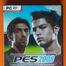 Videojuegos y Consolas: PES 2008 PRO EVOLUTION SOCCER PC-DVD-ROM 2007. Lote 194750628
