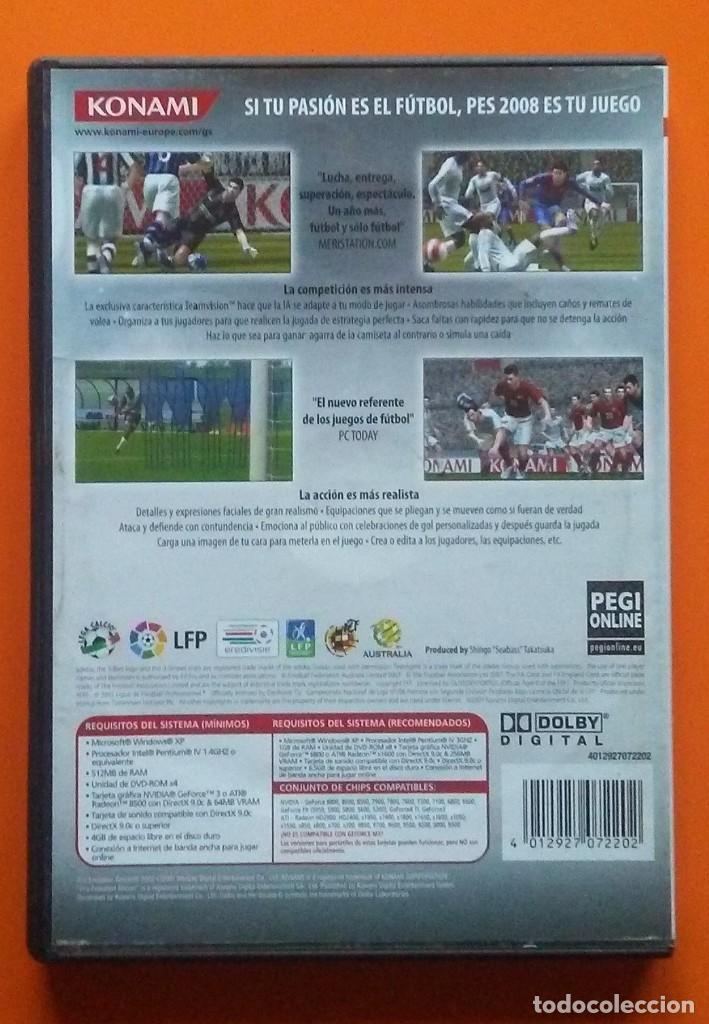 Videojuegos y Consolas: PES 2008 PRO EVOLUTION SOCCER PC-DVD-ROM 2007 - Foto 2 - 194750628