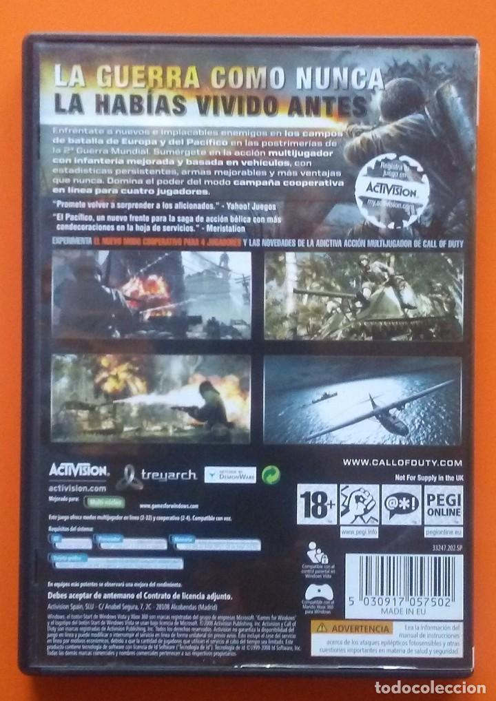 Videojuegos y Consolas: CALL OF DUTY WORLD AND WAR PC-DVD 2008 - Foto 2 - 194753978