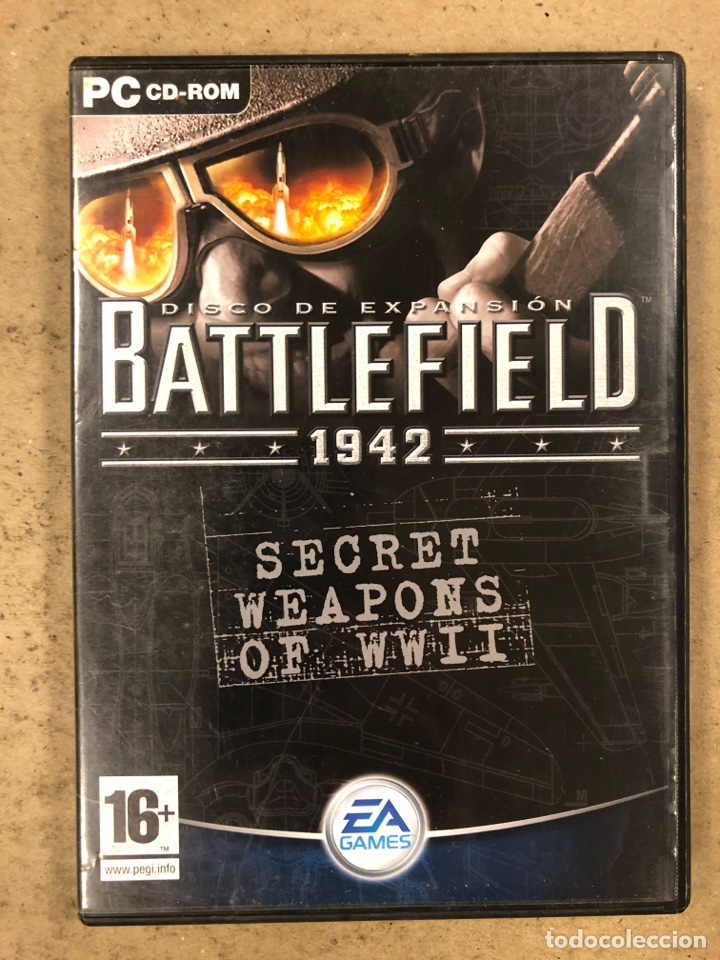 """- PC CD-ROM - BATTLEFIELD 1942 """"SECRET WEAPONS OF WWII"""". (Juguetes - Videojuegos y Consolas - PC)"""