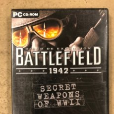 "Videojuegos y Consolas: - PC CD-ROM - BATTLEFIELD 1942 ""SECRET WEAPONS OF WWII"".. Lote 194897967"