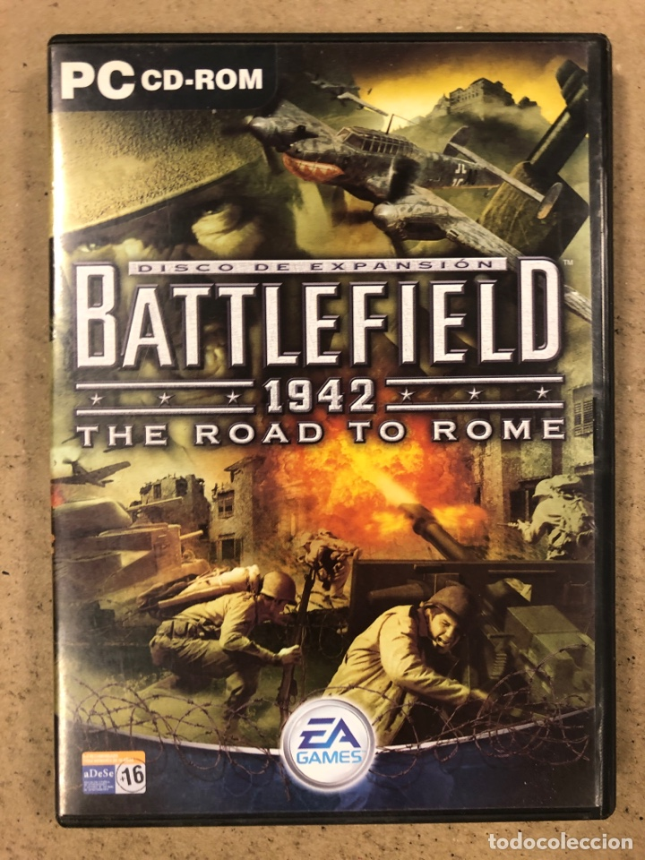 """- PC CD-ROM - BATTLEFIELD 1942 """"THE ROAD TO ROME"""". (Juguetes - Videojuegos y Consolas - PC)"""
