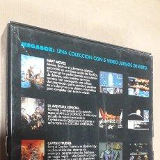 Videojuegos y Consolas: MEGABOX 5 VIDEO JUEGOS PC NARCOPOLICE SATAN NAVY MOVES AVENTURA ESPACIAL CAPITÁN TRUENO. Lote 194929192