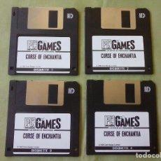 Videojuegos y Consolas: JUEGO PC CURSE OF ENCHANTIA. SOLO LOS 4 DISQUETES. Lote 194946466