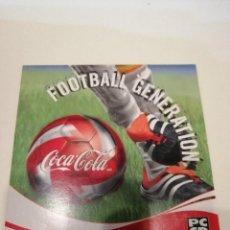 Videojuegos y Consolas: G-KUKI84 PC CDROM FOOTBALL GENERATION COCA COLA . Lote 195047953
