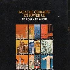 Videojuegos y Consolas: GUÍAS DE CIUDADES EN POWER CD. QUO. (CD ROM + CD AUDIO) CD-PC-154. Lote 195168088