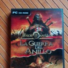 Videojuegos y Consolas: JUEGO PC CD-ROM EL SEÑOR DE LOS ANILLOS - LA GUERRA DEL ANILLO. Lote 195544313