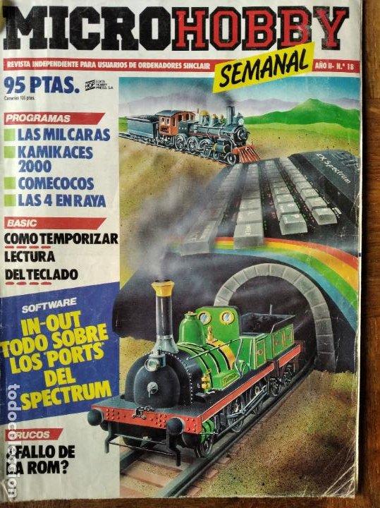 MICROHOBBY Nº 18 DE 1985- SPECTRUM, AMSTRAD, ATARI, COMMODORE, KAMICACES 2000, ZAXXON... (Juguetes - Videojuegos y Consolas - PC)
