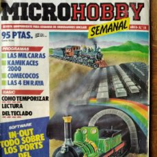 Videojuegos y Consolas: MICROHOBBY Nº 18 DE 1985- SPECTRUM, AMSTRAD, ATARI, COMMODORE, KAMICACES 2000, ZAXXON.... Lote 195746743