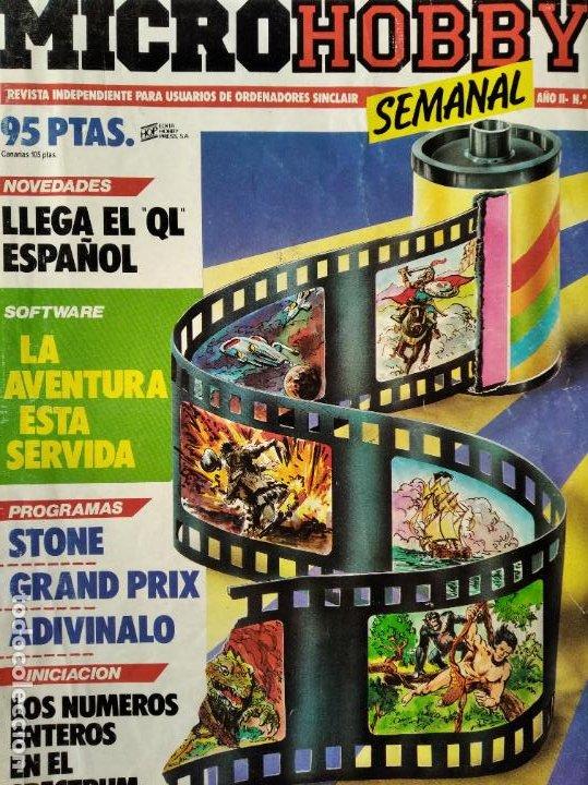 MICROHOBBY Nº 27 DE 1985- SPECTRUM, AMSTRAD, ATARI, COMMODORE, GRAND PRIX, WRIGGLER, VIDEOAVENTURAS (Juguetes - Videojuegos y Consolas - PC)