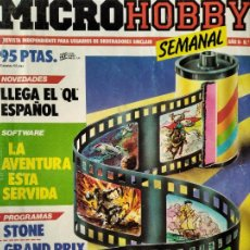 Videojuegos y Consolas: MICROHOBBY Nº 27 DE 1985- SPECTRUM, AMSTRAD, ATARI, COMMODORE, GRAND PRIX, WRIGGLER, VIDEOAVENTURAS. Lote 195747393