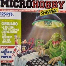 Videojuegos y Consolas: MICROHOBBY Nº 54 DE 1985- SPECTRUM, AMSTRAD, ATARI, COMMODORE, PINKY, VORTEX, POPEYE.... Lote 195747816