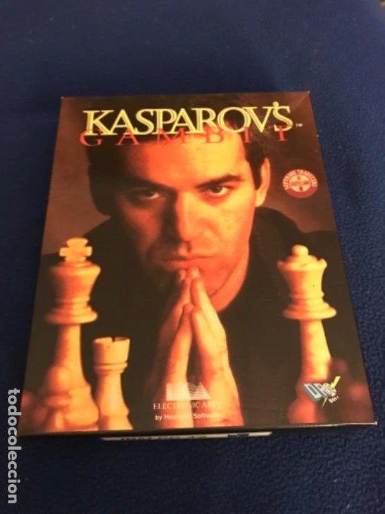 GARY KASPAROVS GAMBIT-JUEGO-IBM PC 3´5 - SOFTWARE TRADUCIDO CASTELLANO CAJA 26X 20 CENTIMETROS 1993 (Juguetes - Videojuegos y Consolas - PC)