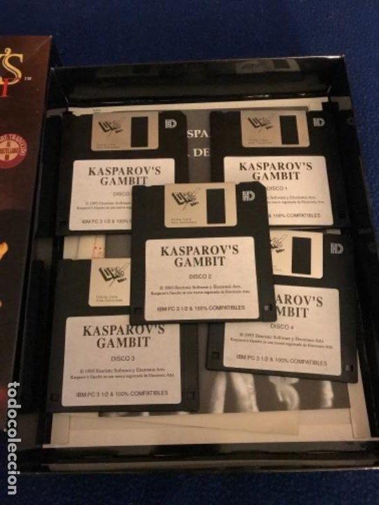 Videojuegos y Consolas: GARY KASPAROVS GAMBIT-JUEGO-IBM PC 3´5 - SOFTWARE TRADUCIDO CASTELLANO CAJA 26X 20 CENTIMETROS 1993 - Foto 2 - 195957582