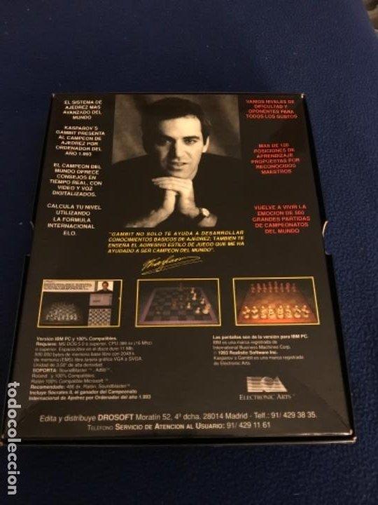 Videojuegos y Consolas: GARY KASPAROVS GAMBIT-JUEGO-IBM PC 3´5 - SOFTWARE TRADUCIDO CASTELLANO CAJA 26X 20 CENTIMETROS 1993 - Foto 5 - 195957582