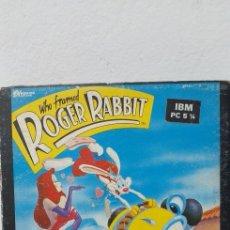 Videojuegos y Consolas: WHO FRAMED ROGER RABBIT (BUENA VISTA SOFTWARE) JUEGO PC DISKETTES 5 1/4. Lote 196123092