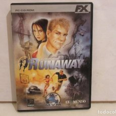 Videojuegos y Consolas: RUNAWAY A ROAD ADVENTURE - 3 X CD - PC - CASTELLANO - COMPLETO - 2003 - EX+/EX+. Lote 196242710