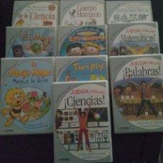 Videojuegos y Consolas: ZETA MULTIMEDIA - LOTE DE 10 JUEGOS EDUCATIVOS CD ROM. Lote 196324077