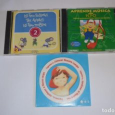 Videojuegos y Consolas: LOTE JUEGOS PC JUVENIL LES TRES BESSONES APRENDE MÚSICA CON PIPO JUGAMOS A CONOCER NUESTRO CUERPO. Lote 196361767