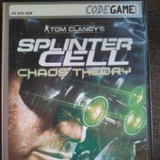 Videojuegos y Consolas: SPLINTER CELL. TOM CLANCY'S - CODE GAME PC CD ROM. Lote 196512832