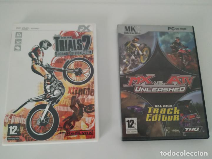 LOTE 2 VIDEOJUEGOS PC: RED LYNX TRIALS 2 Y MX VS. ATV UNLEASHED (Juguetes - Videojuegos y Consolas - PC)