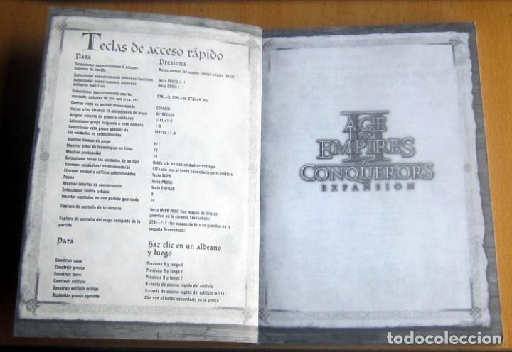 Videojuegos y Consolas: AGE OF EMPIRES, THE AGE OF KINGS Y THE CONQUERORS EXPANSION, INSTRUCCIONES - Foto 3 - 197337572