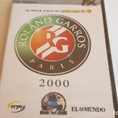 Videojuegos y Consolas: PC / CD-ROM !! ROLAND GARROS. PARIS 2000 / MVM / EL MUNDO - PRECINTADO.. Lote 197814028