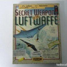 Videojogos e Consolas: SECRET WEAPONS LUFTWAFFE / CAJA CARTÓN / IBM PC / RETRO VINTAGE / DISKETTE - DISQUETE. Lote 197866537