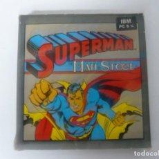 Videogiochi e Consoli: SUPERMAN / CAJA CARTÓN / IBM PC / RETRO VINTAGE / DISKETTE - DISQUETE. Lote 197866995