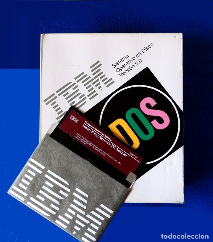 IBM - DOS - SISTEMA OPERATIVO EN DISCO - SOLO CAJA Y ADAPTADOR PC TOKEN-RING - VERSIÓN 1.00 (Juguetes - Videojuegos y Consolas - PC)