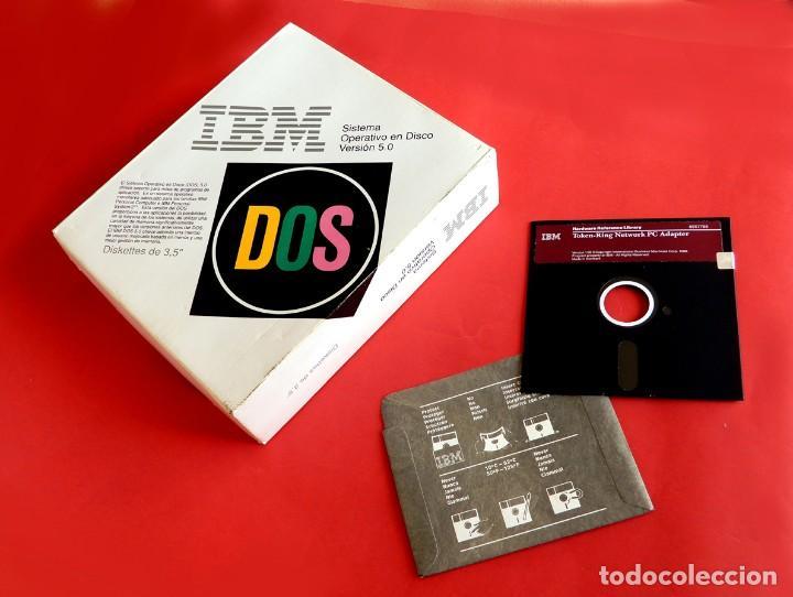 Videojuegos y Consolas: IBM - DOS - SISTEMA OPERATIVO EN DISCO - SOLO CAJA Y ADAPTADOR PC TOKEN-RING - VERSIÓN 1.00 - Foto 2 - 198163480