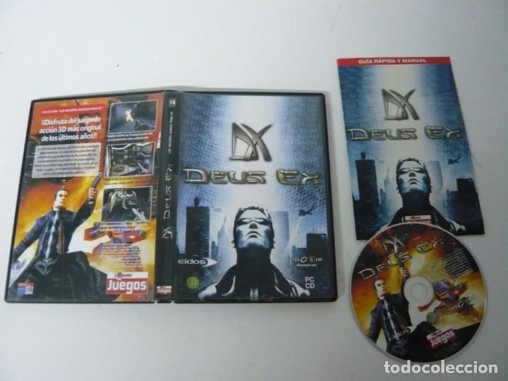 Videojuegos y Consolas: Deus Ex / Caja DVD / IBM PC / Retro Vintage / CD - DVD - Foto 3 - 198292665