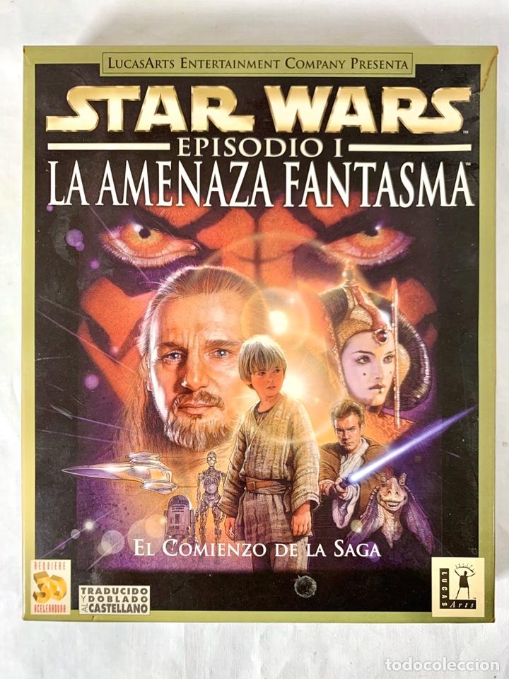 Videojuegos y Consolas: PC Star Wards Episodio I La amenaza fantasmas - Videojuego CD-ROM - Foto 2 - 198312405