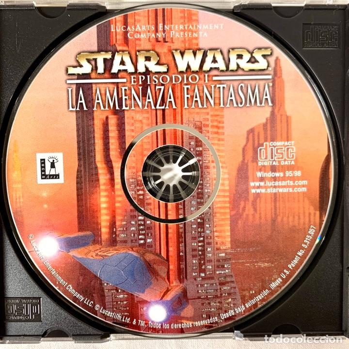 Videojuegos y Consolas: PC Star Wards Episodio I La amenaza fantasmas - Videojuego CD-ROM - Foto 3 - 198312405