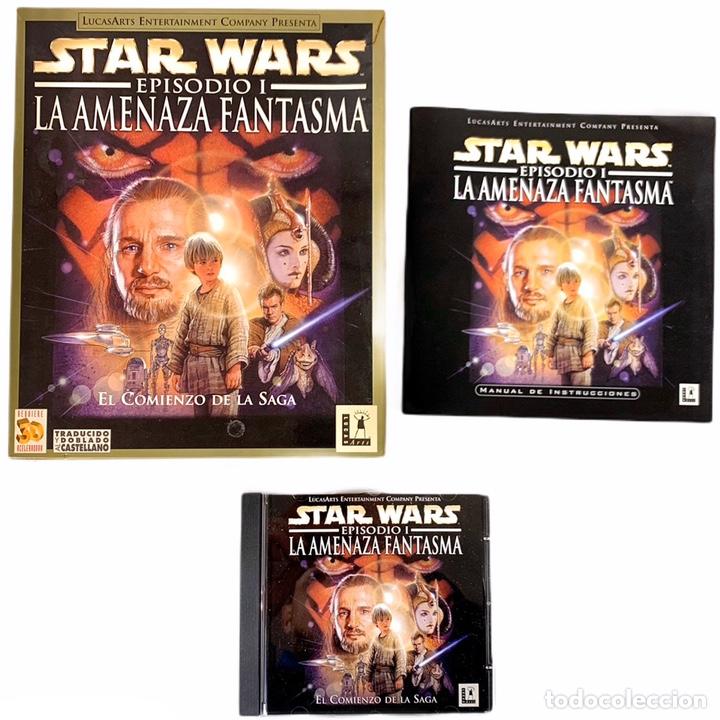 PC STAR WARDS EPISODIO I LA AMENAZA FANTASMAS - VIDEOJUEGO CD-ROM (Juguetes - Videojuegos y Consolas - PC)