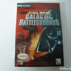 Videojuegos y Consolas: STAR WARS - GALACTIC BATTLEGROUNDS / CAJA DVD / IBM PC / RETRO VINTAGE / CD - DVD. Lote 198325150