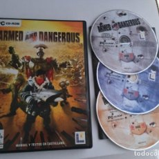 Videojuegos y Consolas: ARMED AND DANGEROUS PC CD ROM KREATEN. Lote 199221672