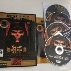Videojuegos y Consolas: DIABLO II CON EXPANSION SET LORD OF DESTRUCTION PACK PC KREATEN 2 CDS. Lote 199225286