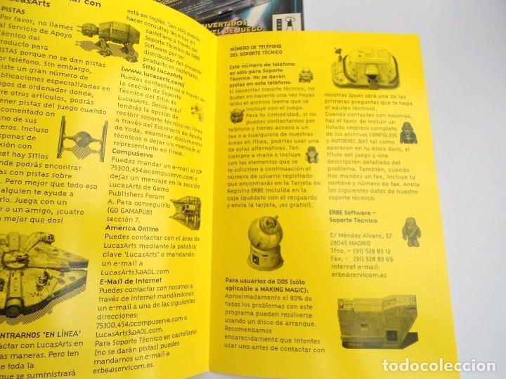Videojuegos y Consolas: THE YODA STORIES STAR WARS - JUEGO PC COMPLETO - LUCAS ARTS ERBE 1997 - EDICION CD-ROM - Foto 13 - 199530910